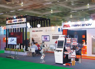 The FIG stand at Labelexpo India 2014. Photo PSA