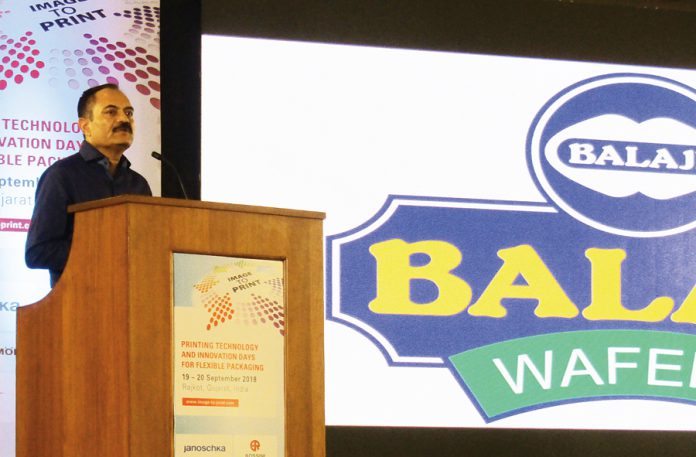 Chandubhai Virani, one of the founders of the Balaji group, made clear at the beginning of the Image to Print conference itself that the group is committed to invest in the latest technology in both food processing and packaging. Photo PSA
