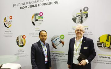 L to R: Arnab Maiti and John Winderam of Esko at the company's India CorrExpo stand