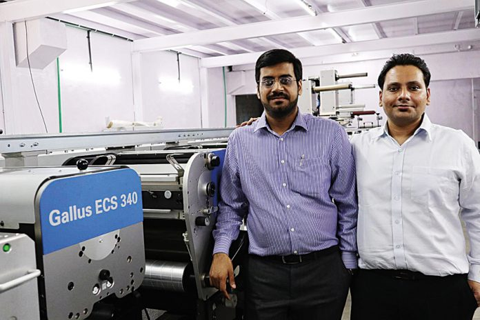 Aditya Ojha and Kapil Vaidya with the new Gallus ECS 340