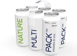 The KHS Group received the Green Star Packaging Award at this year's FachPack trade fair in Nuremberg for its innovative packaging solution Nature MultiPack. Photo KHS Group