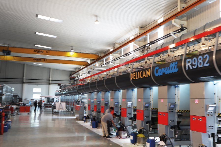 The assembly hall at Pelican's Rajkot plant can accomodate four presses at a given time. Photo PSA