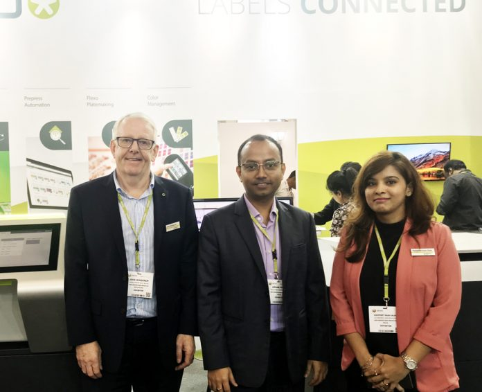 L-R John Winderam, general manager, Arnab Maiti, sales director - South Asia and Manpreet Kaur Kalsi, Marketing Executive - South Asia of Esko.