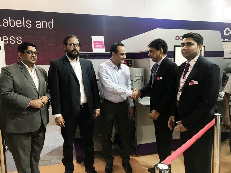 The Colonovo label press was sold to Barcom Industries by Monotech at Labelexpo India 2018 today. At the event, Monotech sold the press to two companies, Wonder Pac India and Barcom Industries.