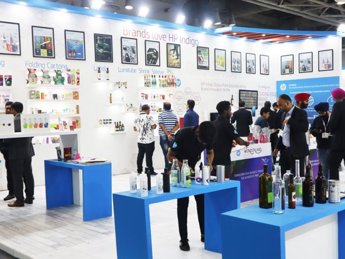 HP stand at Labelexpo India 2018. Photo PSA