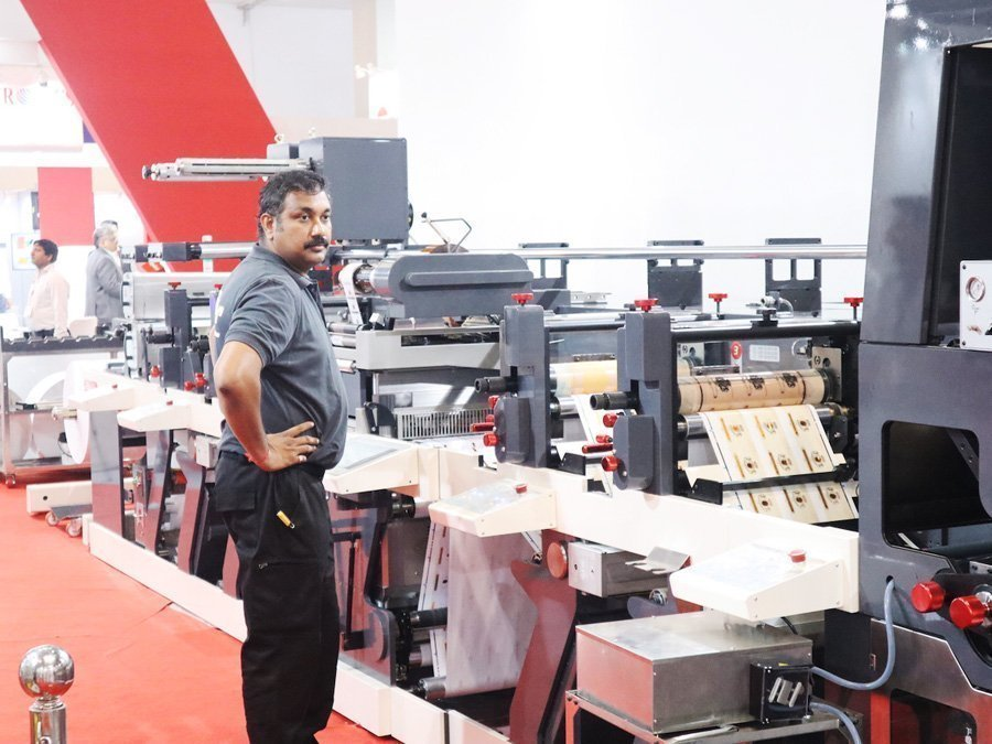 The Nilpter India FB label press at Labelexpo India 2018