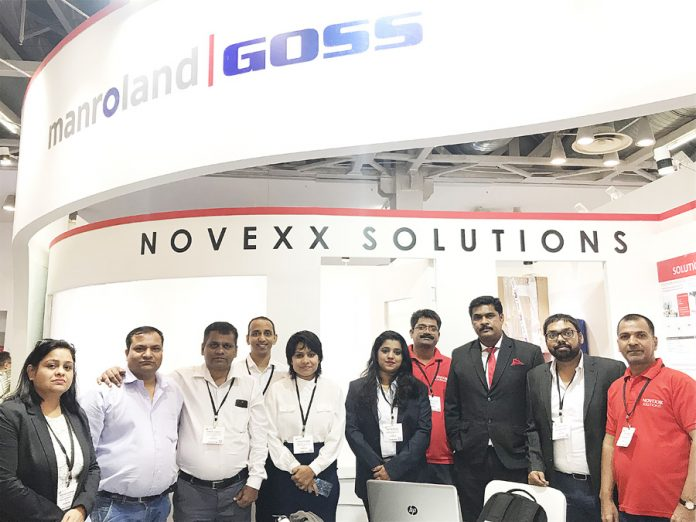 The Novexx team at Labelexpo India 2018