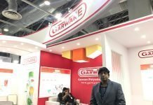 Jayesh Bharuka, manager - Export Marketing, Garware Polyester at Labelexpo India 2018.