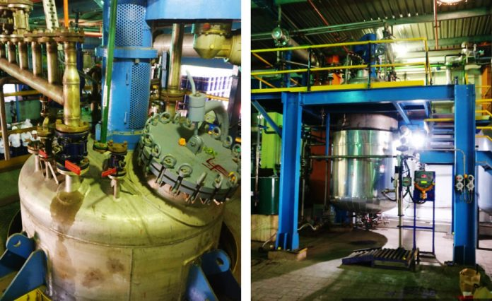 The new reactor commissioned by Brilliant Polymers at its manufacturing site in Ambernath, Maharashtra.