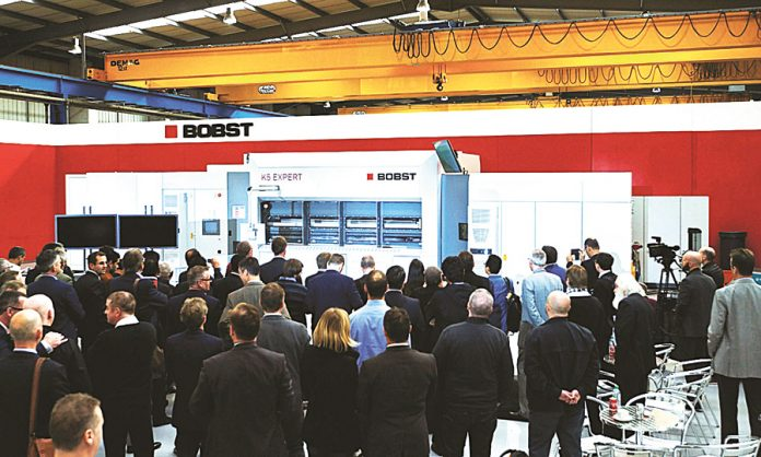 The next generation Bobst K5 EXPERT vacuum metallizer which was unveiled recently at Bobst Manchester Open House