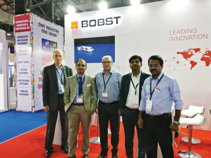 Bobst team at IndiaCorr Expo