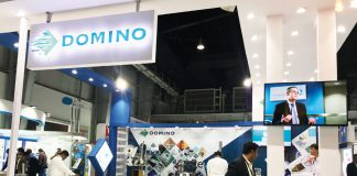The Domino stand at CPhI India organized by UBM in Greater Noida. Photo PSA