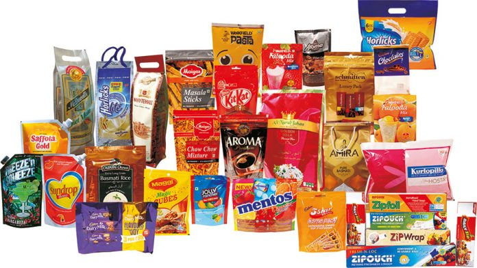 Flexible packaging produced for leading brand owners by Uflex using the rotogravure process. Photo: Uflex