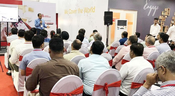Anil Sharma, vice president and general manager, Avery Dennison, South Asia Pacific and Sub-Saharan Africa speaking to customers and partners at the official opening of Avery Dennison I.Lab in Pune, India.