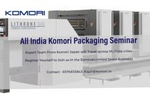 Komori India is conducting packaging seminars across India between 25 May and 8 June.