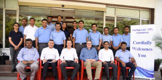 Team HPPL at the Rudrapur plant during the inauguration ceremony