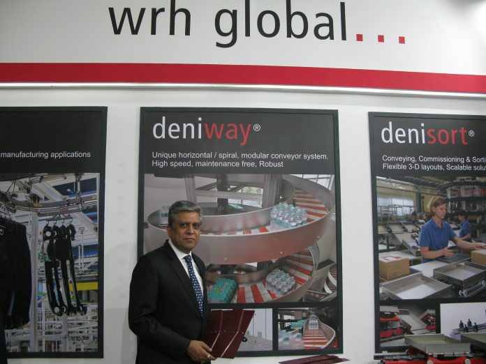 Kawal Arora at the WRH Global stand during the India Warehousing Show 2019