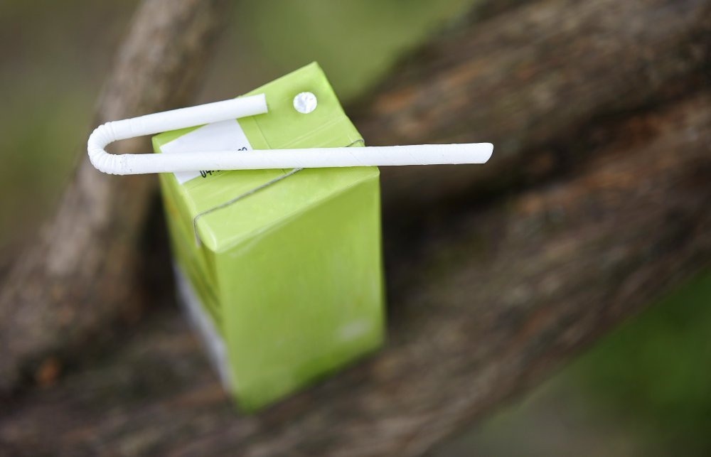 The straw is made to be used for individual drink cartons such as juice, milk and water.