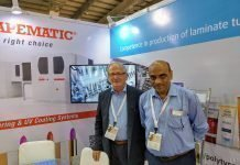 Piero Paolo Colombo of Tapematic Spa and Arvind Narang of Wifag Polytype India at Cosmoprof India
