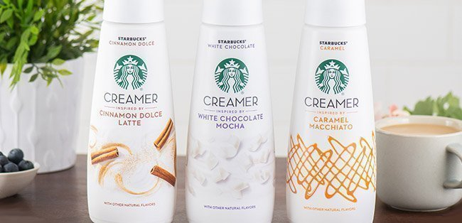Starbucks coffee creamers