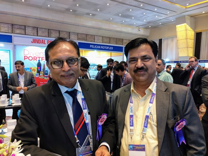 Ambar Patel, managing director of Shilp Gravures with Gajanan Bhavsar, marketing director, Shilp Gravures at the 8thSpeciality Films & Flexible Packaging Global Summit 2019