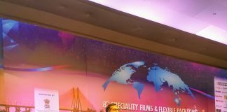 Shiva Mudgil of Rabi Bank India speaking at the 8th Speciality Films & Flexible Packaging Global Summit 2019