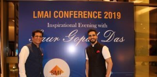Ajay Mehta, managing director, SMI, with his son, Rohit Mehta at the LMAI conference in Kochi. Photo PSA