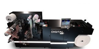 Digital Pro 3 with semi-rotary - a configurable inline CMYK digital hybrid toner press