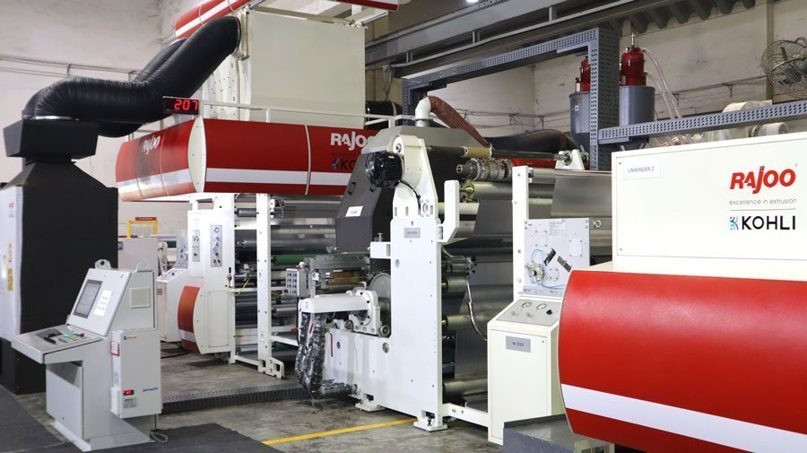 The extrusion coating and lamination machine – Lamex – during the open house