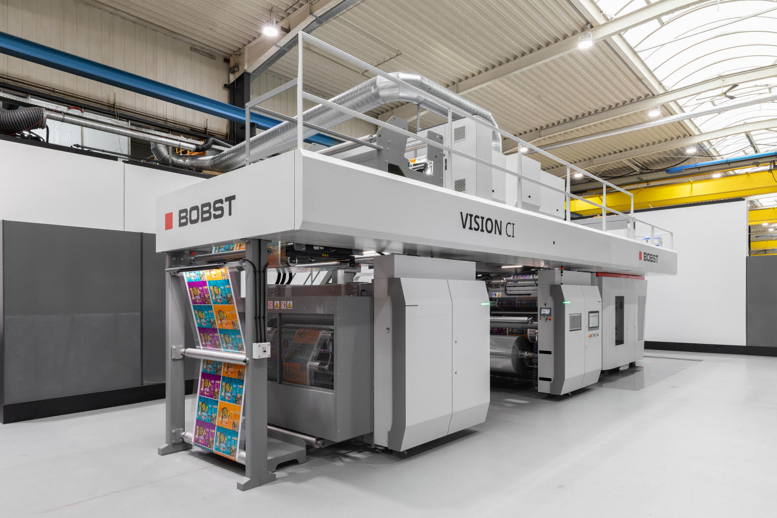 Bobst Vision CI flexo pres. Photo Bobst
