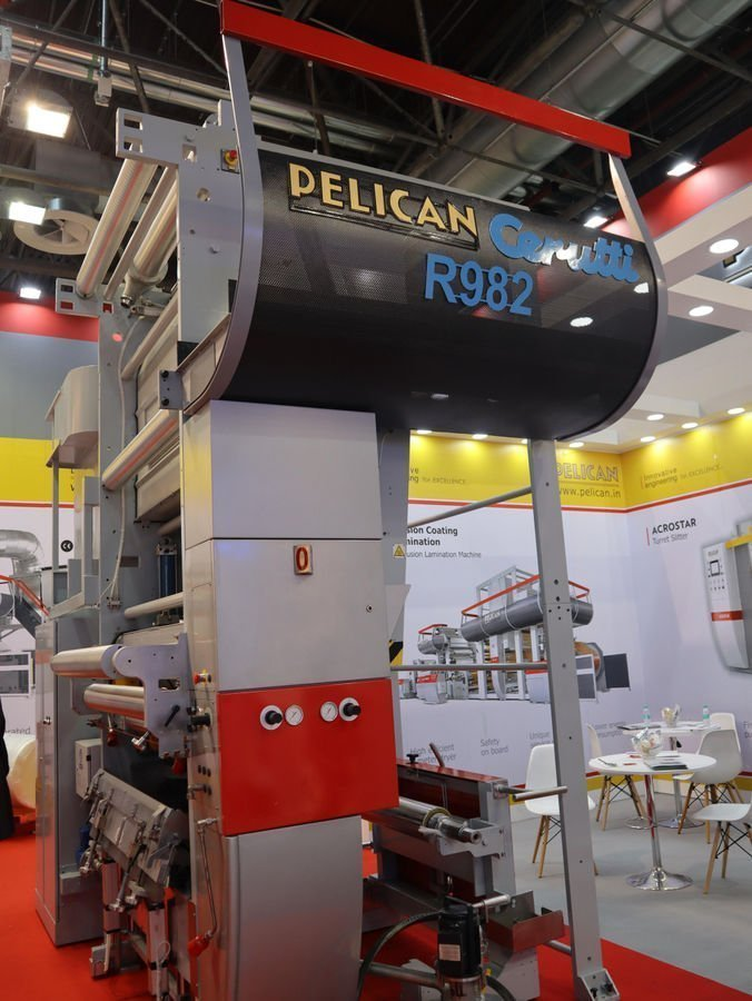 The new Pelican Cerutti 982 tower with semi-flotation dryer being shown at K in Hall 4.
