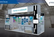 Rendering of PT. Toyo Ink Indonesia's booth at Plastics & Rubber Indonesia 2019