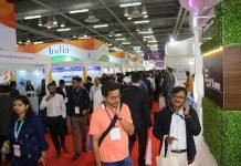 CPhi and P-Mec exhibition at the India Expo Mart, Greater Noida. Photo PSA