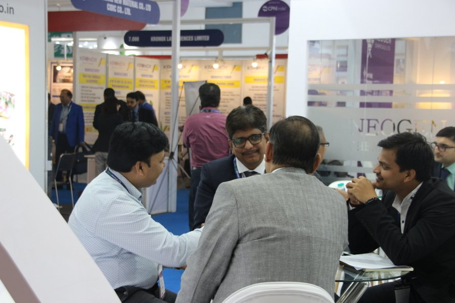 Visitors at the CPhi and P-Mec exhibition. Photo PSA