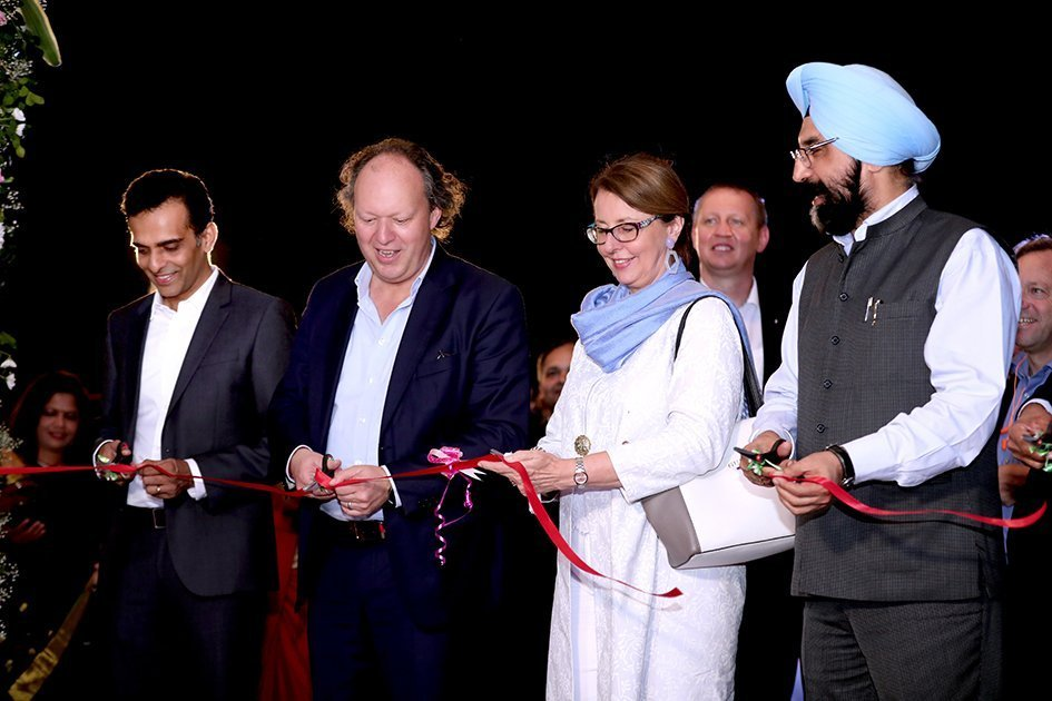 Ribbon cutting of the new Constantia Ecoflex flexible packaging plant in Ahmedabad
