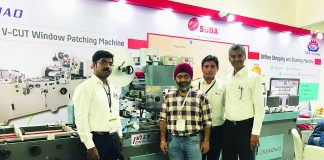 Suba Solutions team with Babar Singh of Punjab Printing Press at Packaplus 2019