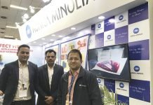Konica Minolta team at its stand at pacprocess 2019