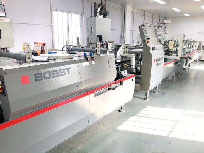 Bobst Visionfold folder-glluer that Five Star installed in 2016. Photo PSA