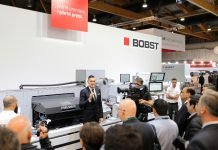 Bobst at Labelexpo Europe 2019. Photo Bobst