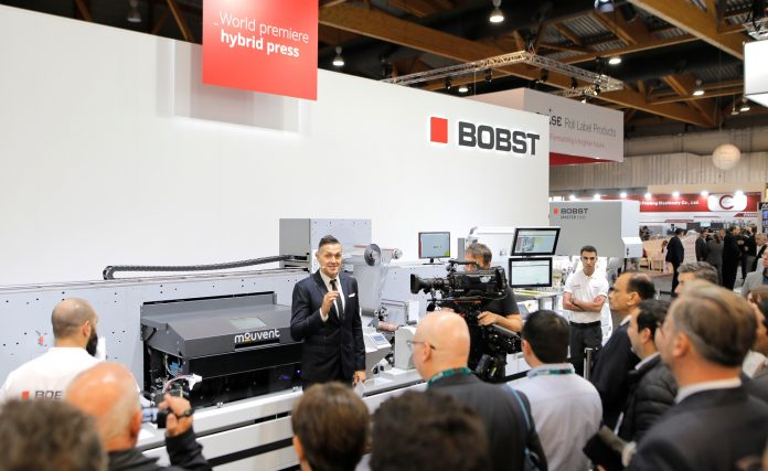 Bobst DM5 at Labelexpo Europe 2019. Photo Bobst