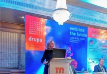 Sabine Geldermann speaking at the Mumbai roadshow. Photo PSA