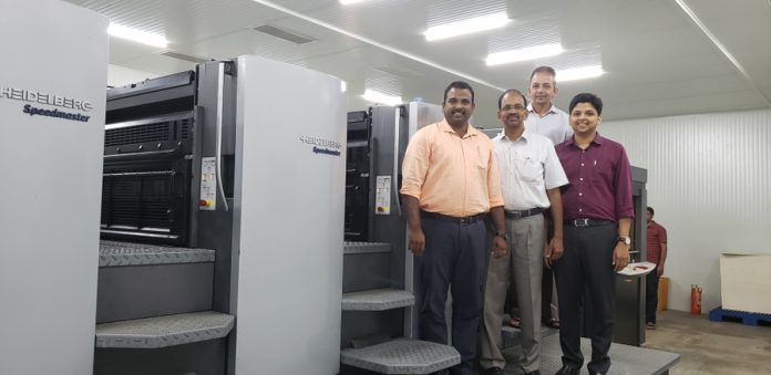 Grafique Printers team with the refurbished Heidelberg CD 102 6-color press