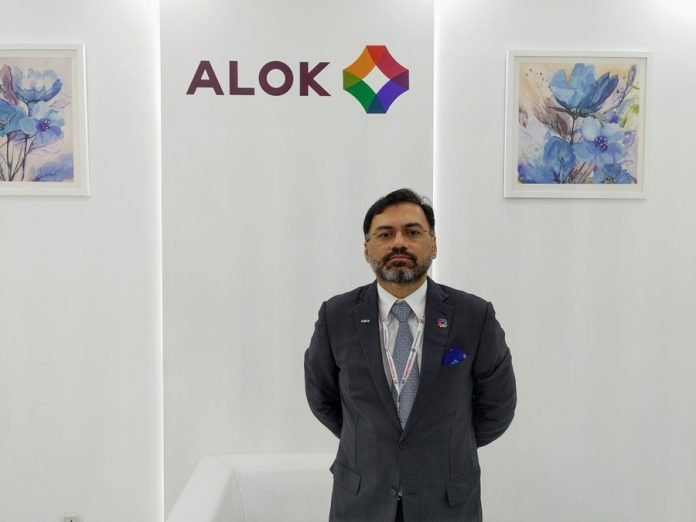 Amit Puri of Alok Masterbatches at Plastivision 2020. Photo PSA