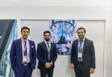 L - R: Abhiroop Chakarborty, Karan Sud and Anuj Sahni of W&H India at Plastivision 2020. Photo PSA