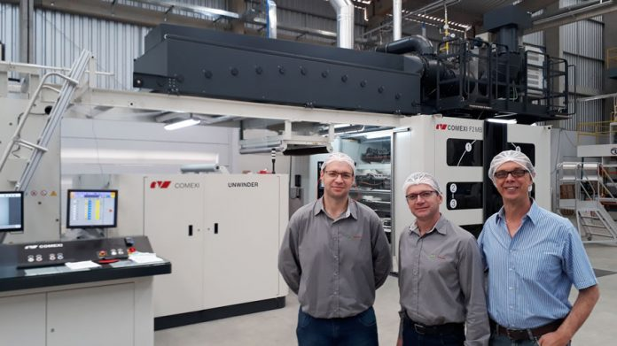 Comexi installs a F2 MB flexographic press with a gearless system at Pamplastic in Brazil