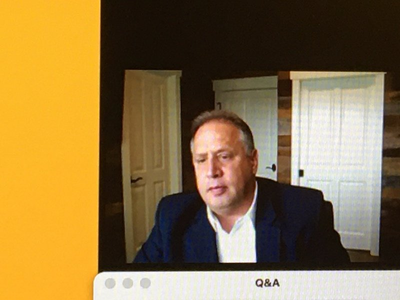 Kodak's executive chairman Jim Continenza, leading the company's virtual meeting with journalists on 15 June 2020 Photo PSA