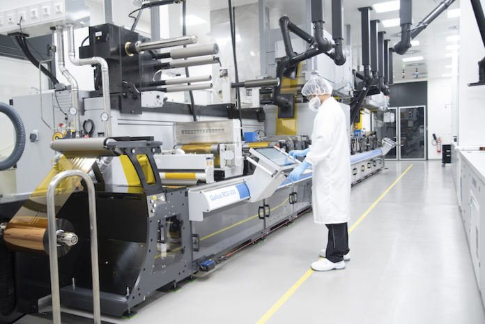 Heidelberg is starting production of printed and organic electronics at the company's Wiesloch-Walldorf site. Photo Heidelberg