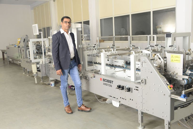 Gopal Vachheta credits the record production this June to his decision to buy a Bobst Ambition 106 A2 folder-gluer late last year.