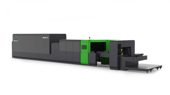 The Highcon Beam 2C Nonstop Configuration that was intended to on show at drupa in June 2020 Photo Highcon
