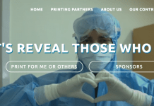 projectsmiles.in has supplied stickers with faces and names to health workers so that Covd-19 patients can identify who is treating them. Image projectsmiles.in